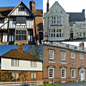 Montage of historical houses, research carried out by Archives Alive